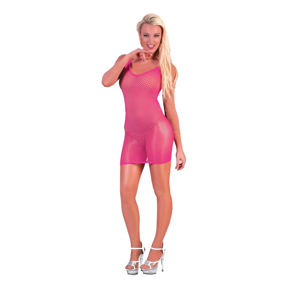 Fisknätsklänning Rosa - One size