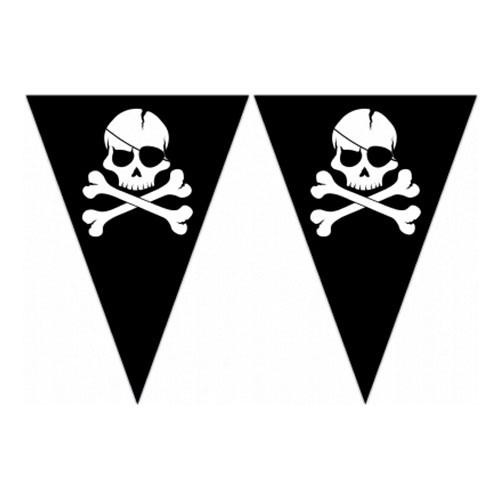 Flaggirlang Dödskalle Pirat