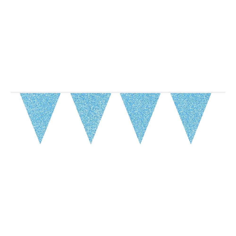 Flaggirlang Glitter Azurblå