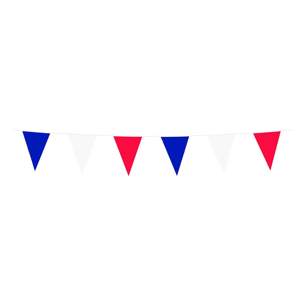 Flaggirlang Röd/Blå/Vit - 10 meter
