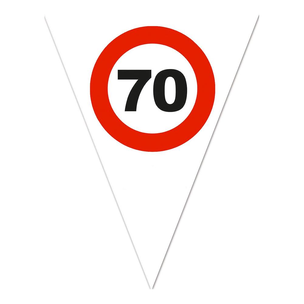 Flaggirlang Trafikskylt 70