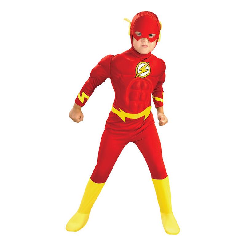 Flash med Muskler Barn Maskeraddräkt - Small