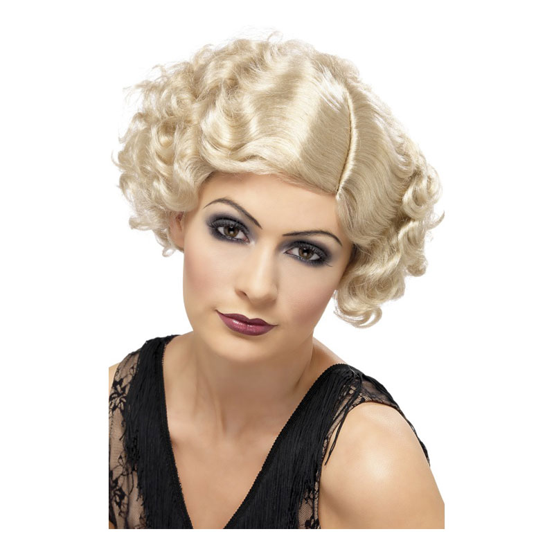 Flirty Flapper Blond Peruk - One size