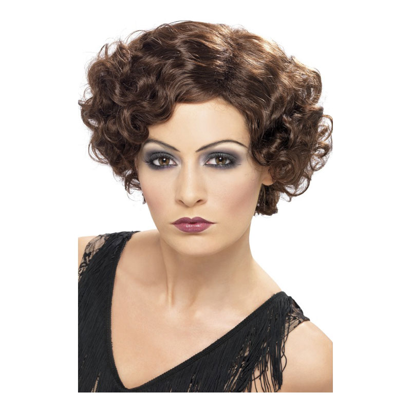 Flirty Flapper Brun Peruk - One size