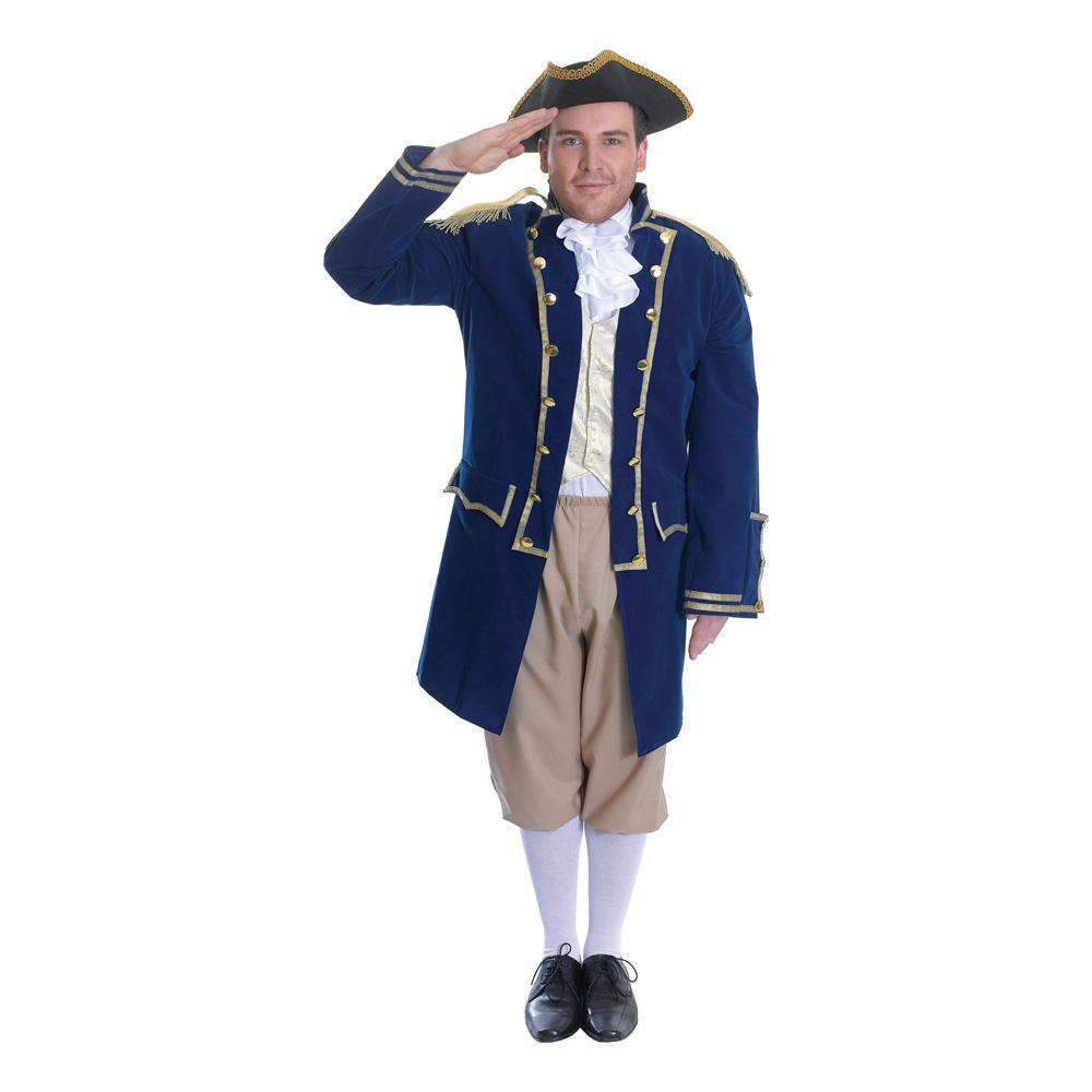Flottans Amiral Maskeraddräkt - One size