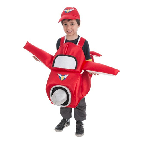 Flygplan Barn Maskeraddräkt - One size