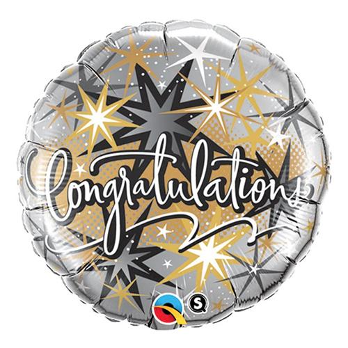 Folieballong Congratulations Stars