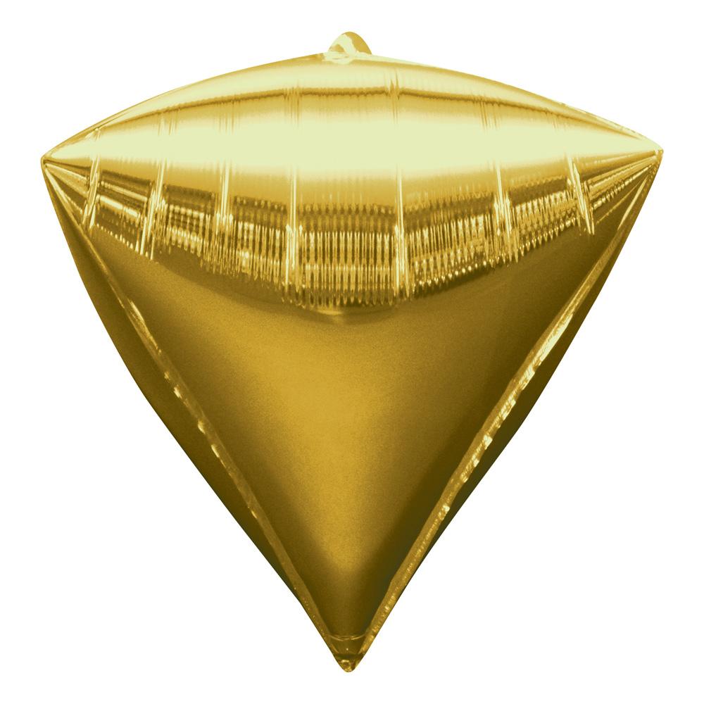Folieballong Diamant Guld
