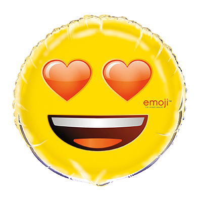Folieballong Emoji Heart Eyes