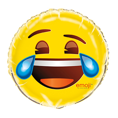 Folieballong Emoji Laughing with Tears