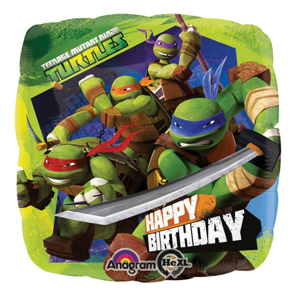Folieballong Happy Birthday Ninja Turtles