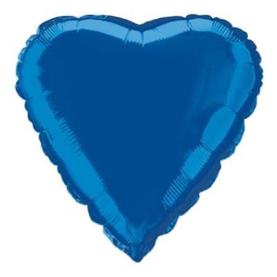 Folieballong Hjärta Blått