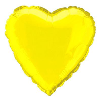 Folieballong Hjärta Gult
