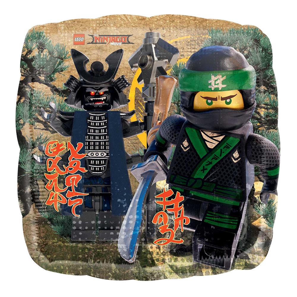 Folieballong Kvadrat Lego Ninja