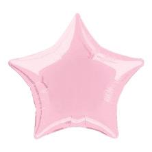 Folieballong Ljusrosa Stjärna