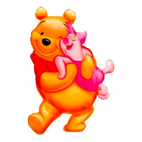 Folieballong Nalle Puh och Nasse