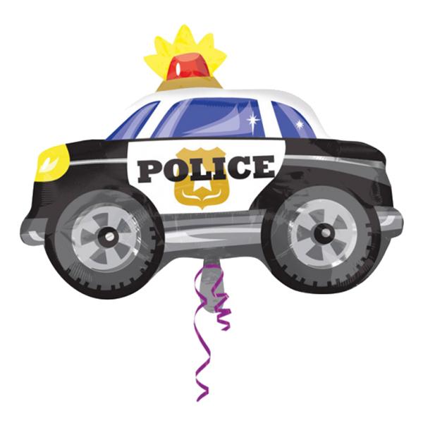 Folieballong Polisbil