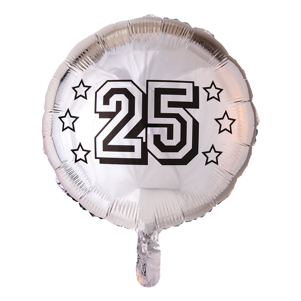 Folieballong Rund Silver 25