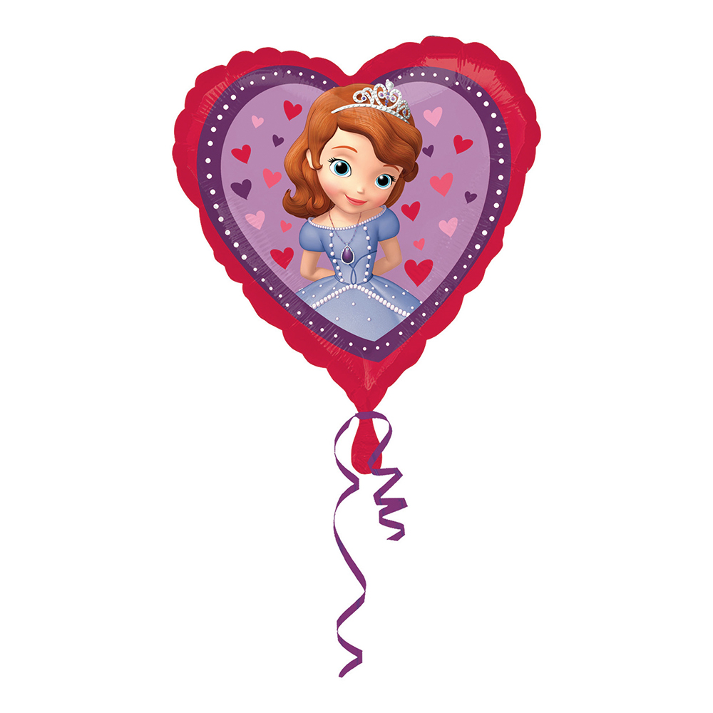 Folieballong Sofia Den Första Hjärta
