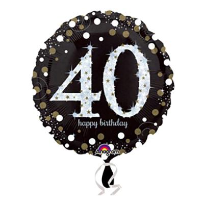 Folieballong Sparkling Birthday 40