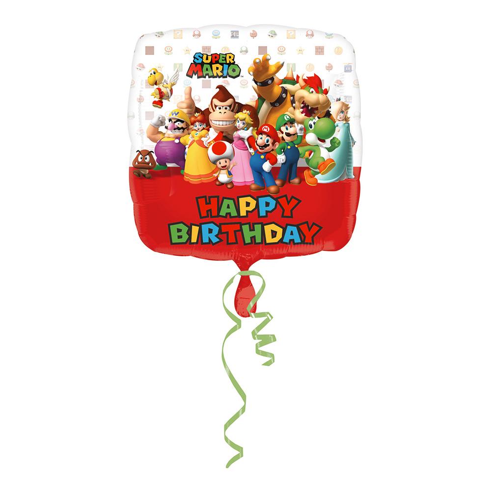 Folieballong Super Mario Happy Birthday