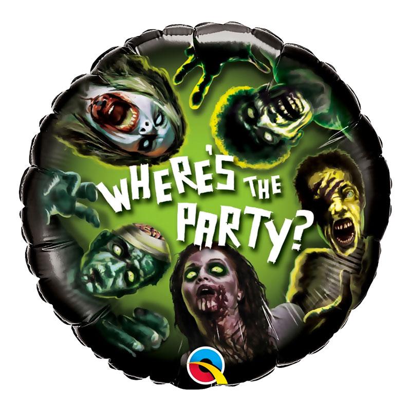 Folieballong Zombieparty