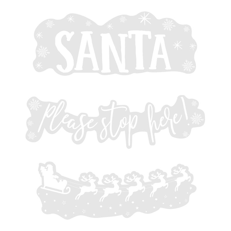 Fönsterdekoration Santa Vit