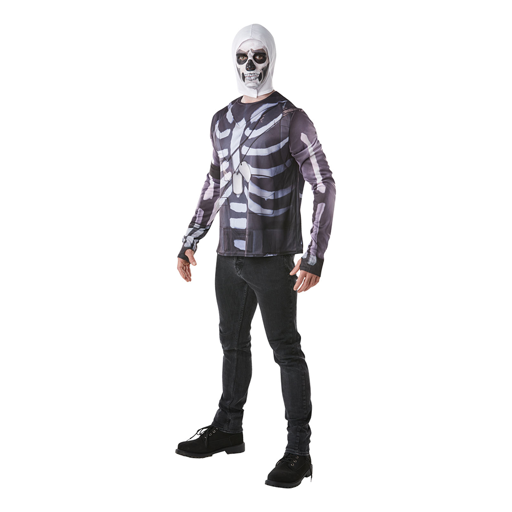 Fortnite Skull Trooper Budget Maskeraddräkt - Small