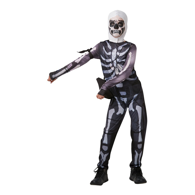 Fortnite Skull Trooper Barn Maskeraddräkt - Medium