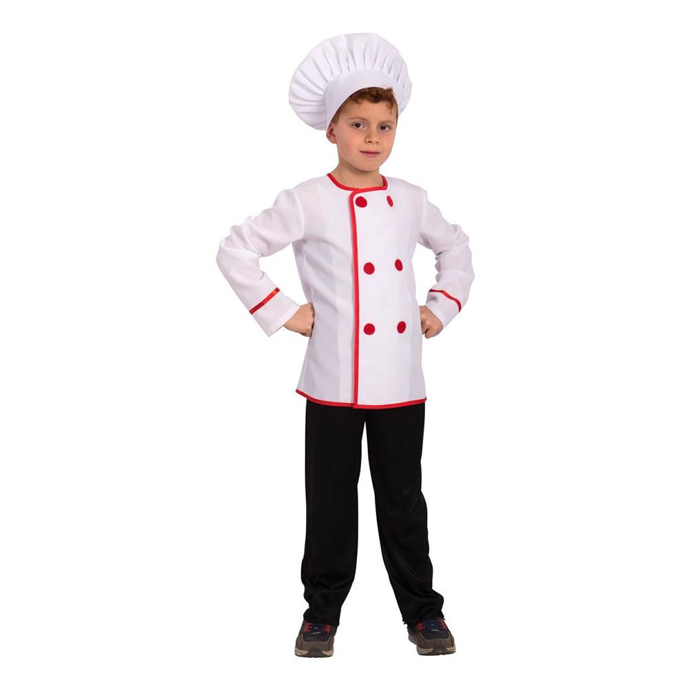Fransk Kock Barn Maskeraddräkt - One size