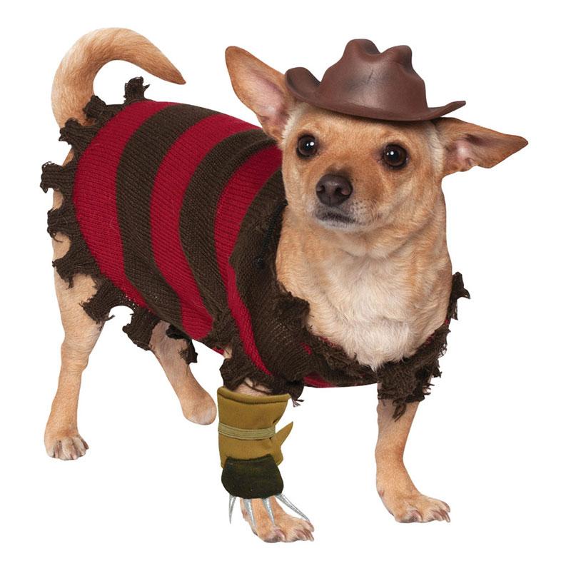 Freddy Kreuger Hund Maskeraddräkt - Small