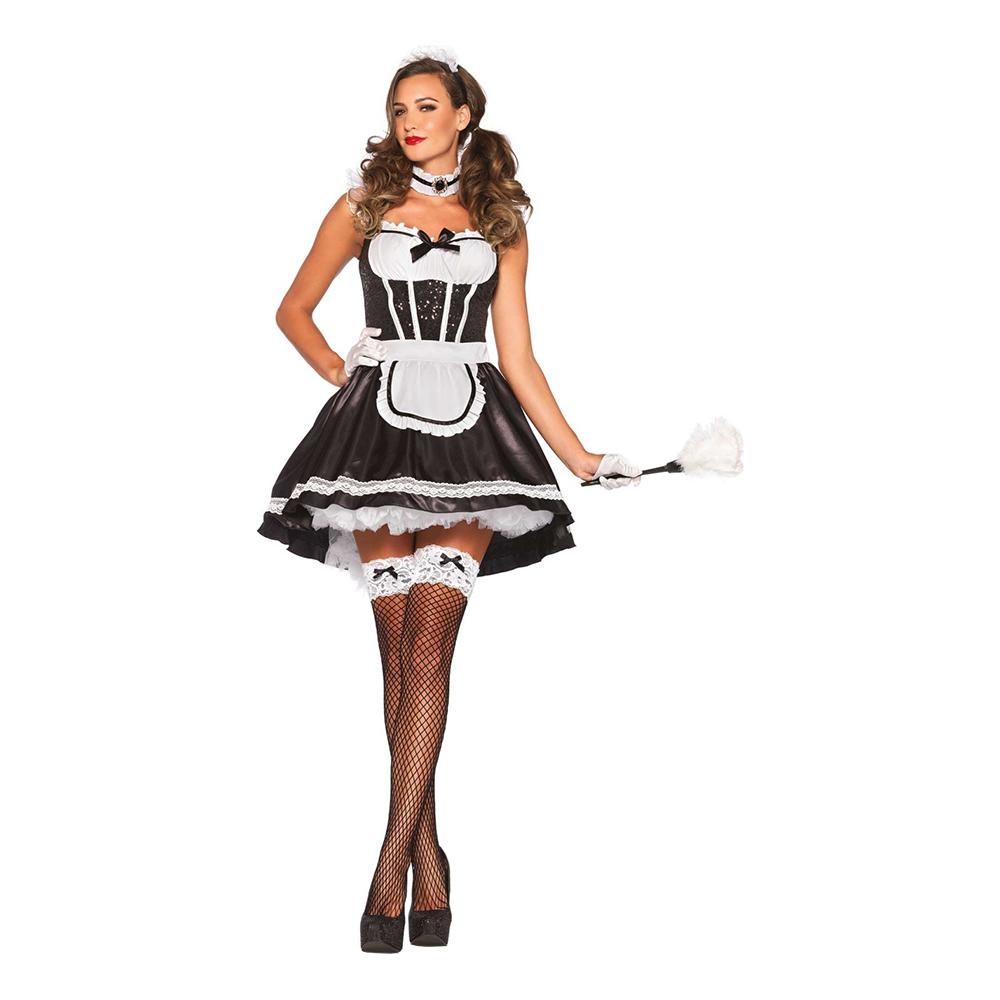 French Maid Deluxe Maskeraddräkt - Small/Medium