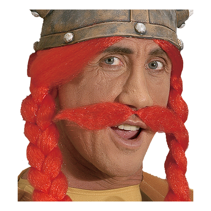Gallisk Viking Röd Mustasch