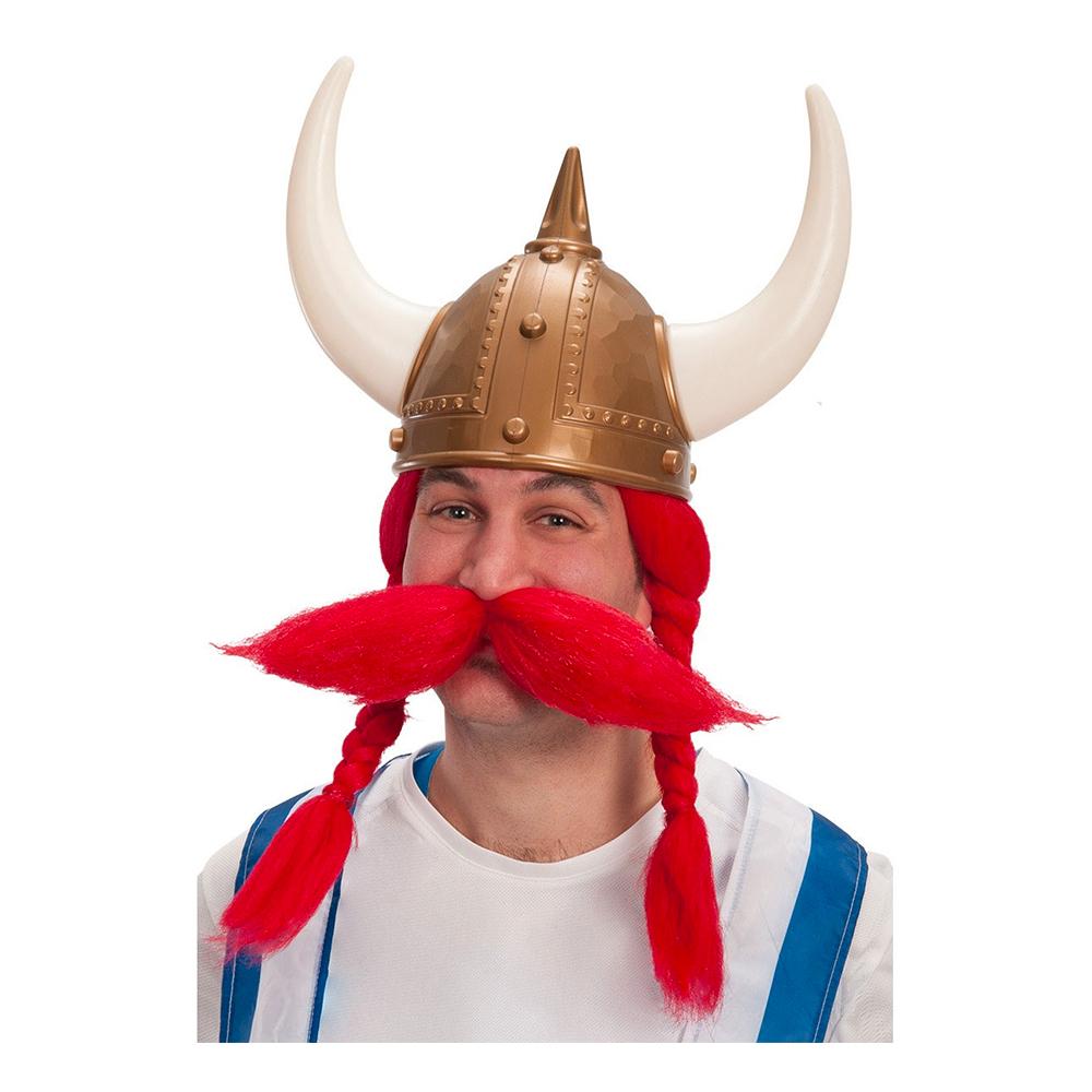 Gallisk Viking Röd Perukset