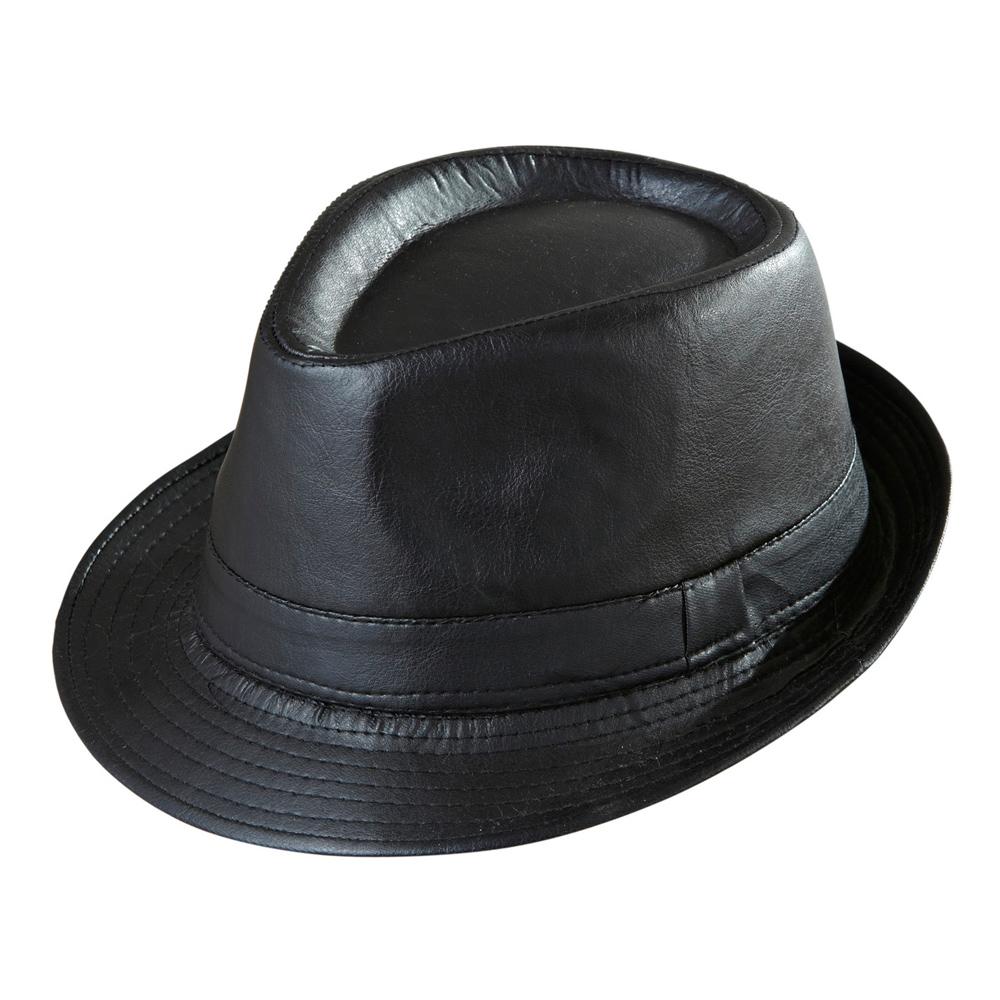 Gangsterhatt i Läderlook - One size