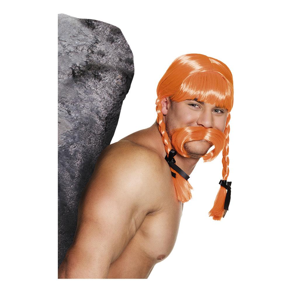 Gaul Fidelix Peruk med Mustasch - One size