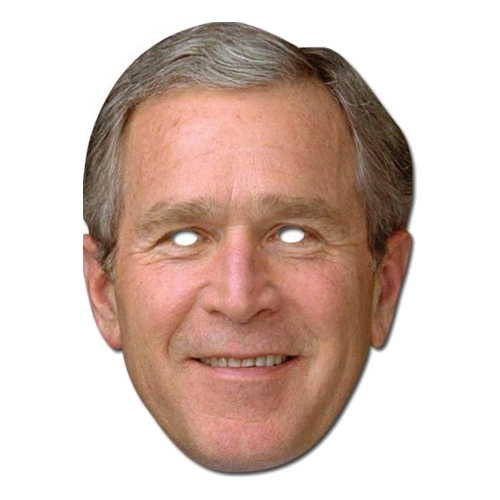 George Bush Pappmask - One size