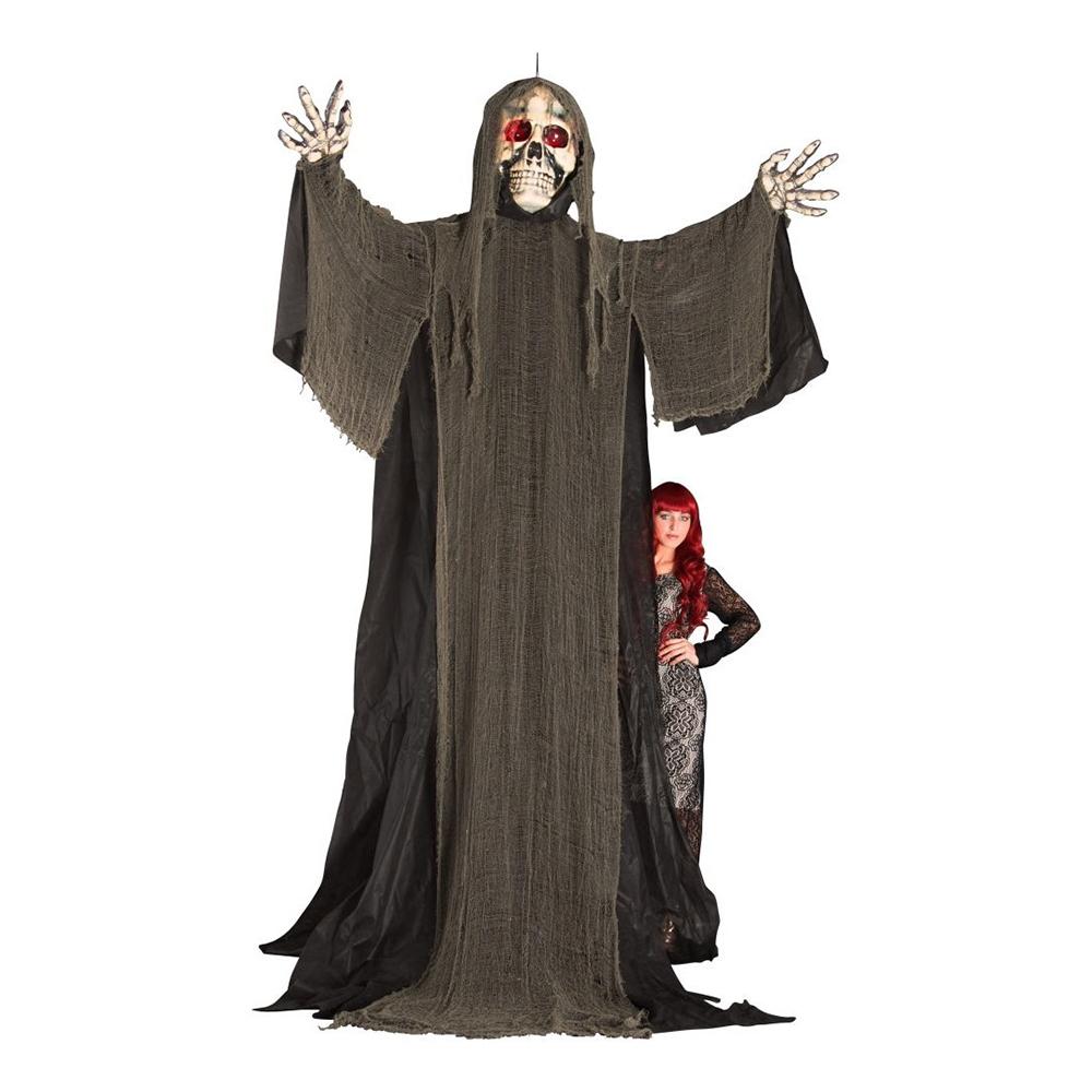 Gigantiskt Hängande Skelett med Lysande Ögon