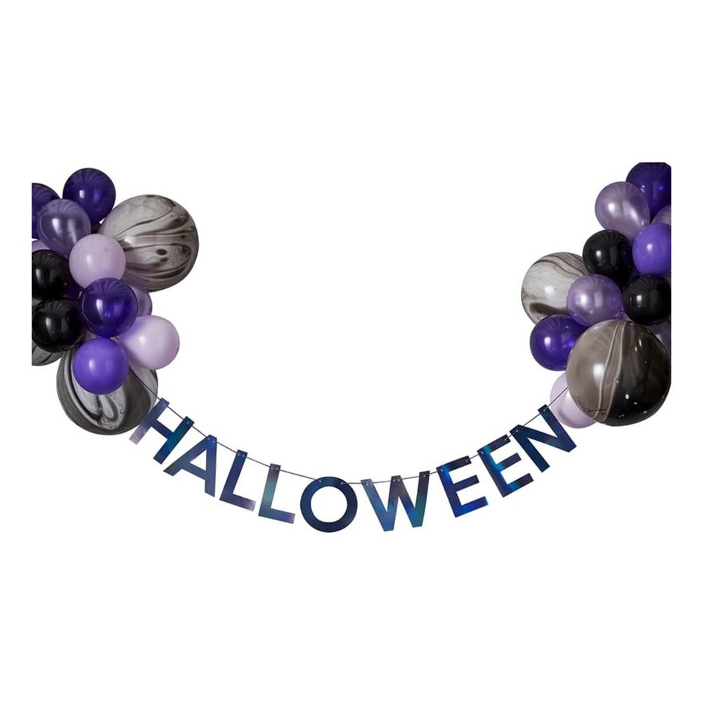 Girlang Halloween med Ballonger Flerfärgad