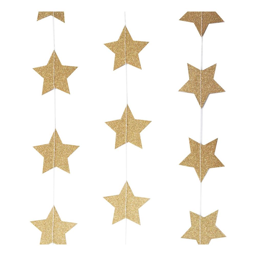Girlang Stjärnor Guldglitter Hängande
