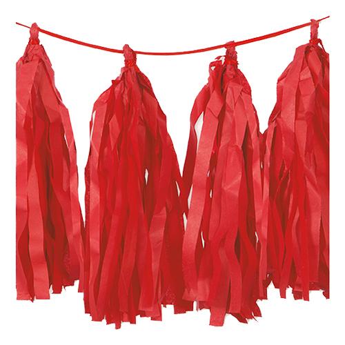 Girlang Tofsar Röd