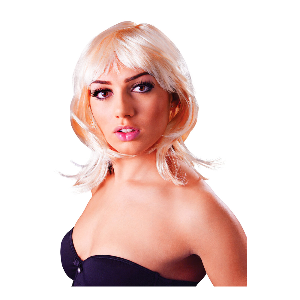 Glamour Uppklippt Blond Peruk - One size