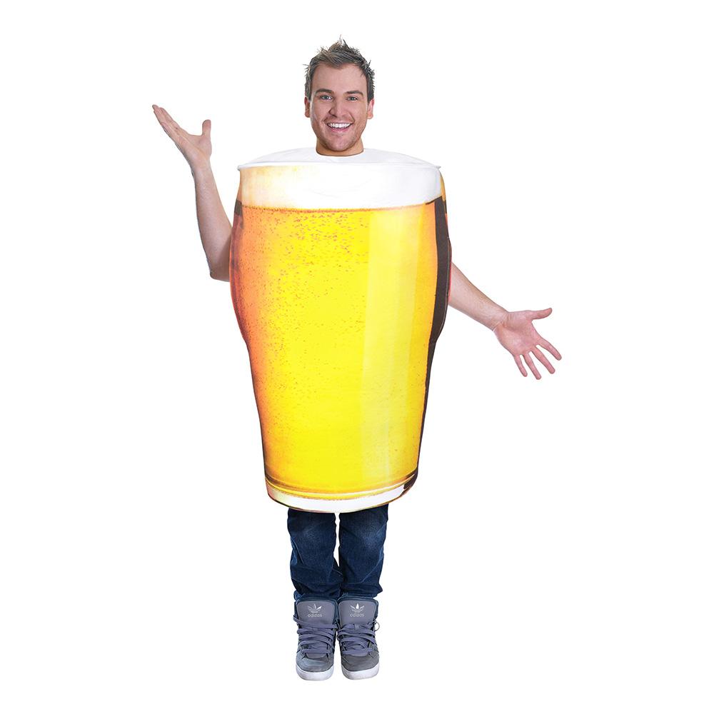 Glas med Öl Maskeraddräkt - One size