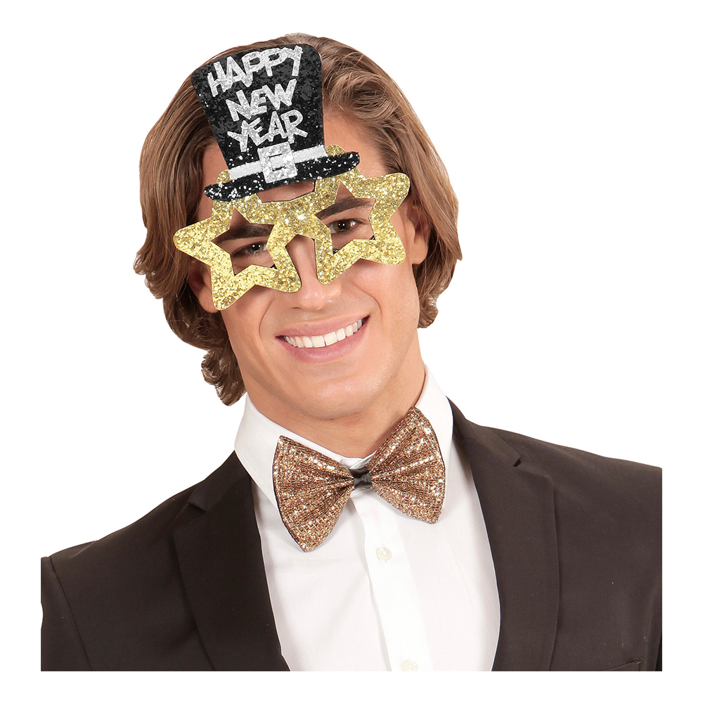 Glasögon Happy New Year Guld