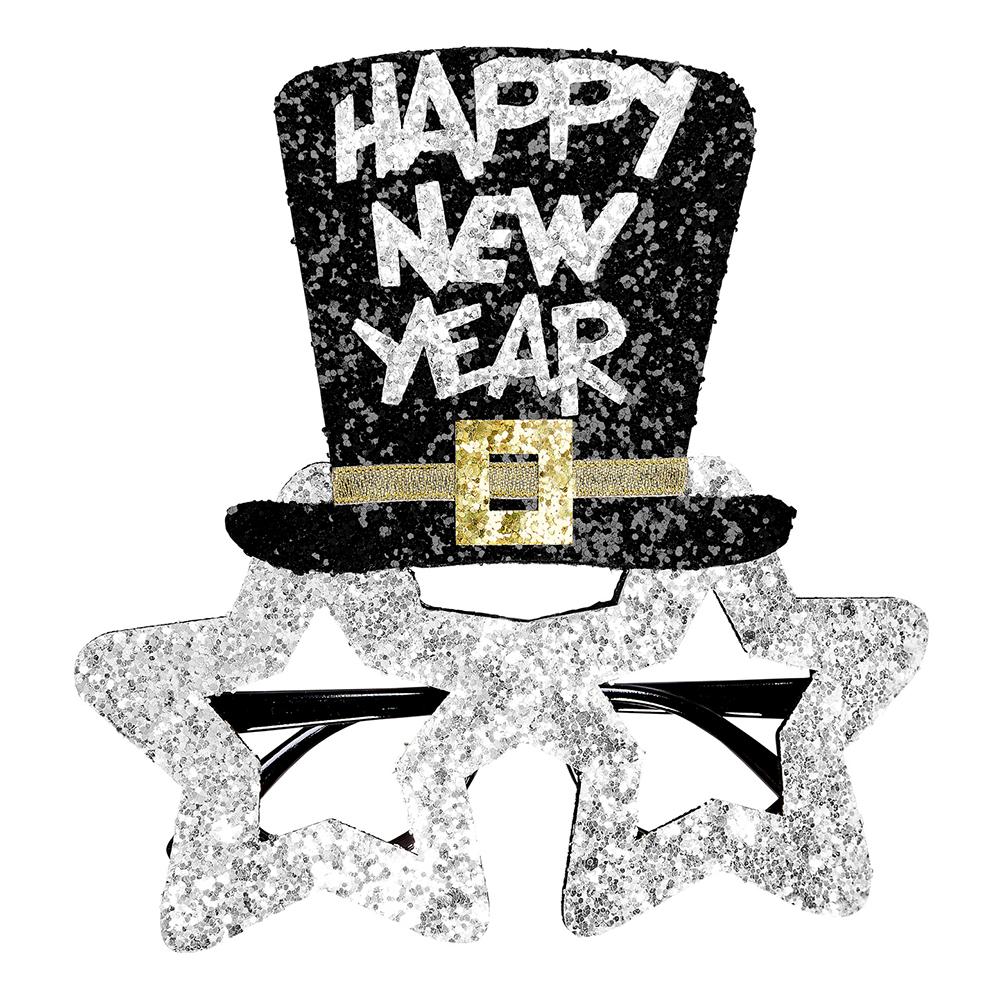 Glasögon Happy New Year Silver