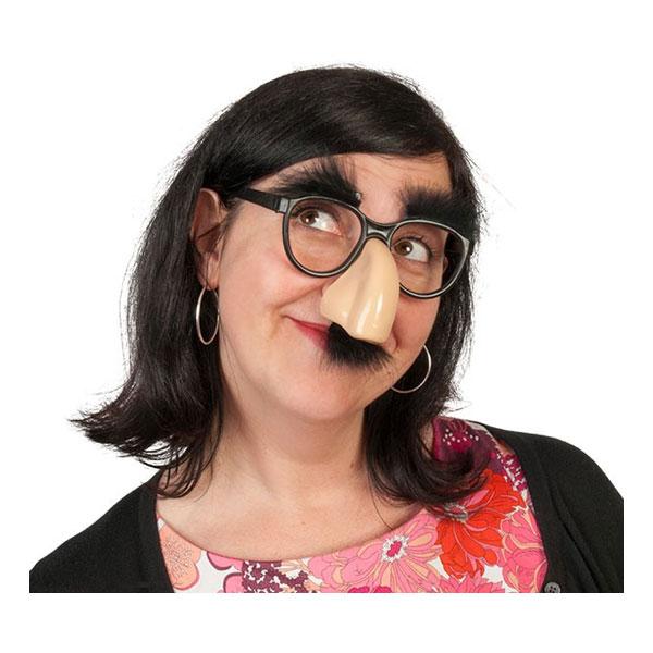 Glasögon med Mustasch och Näsa