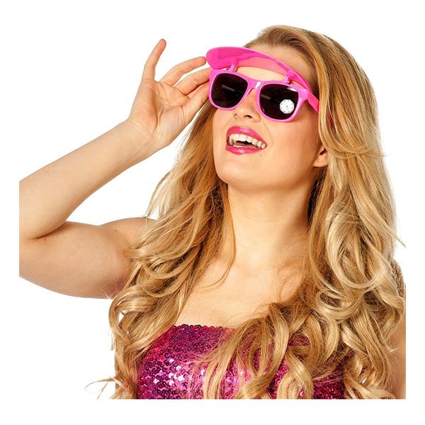 Glasögon med Skärm Neonrosa