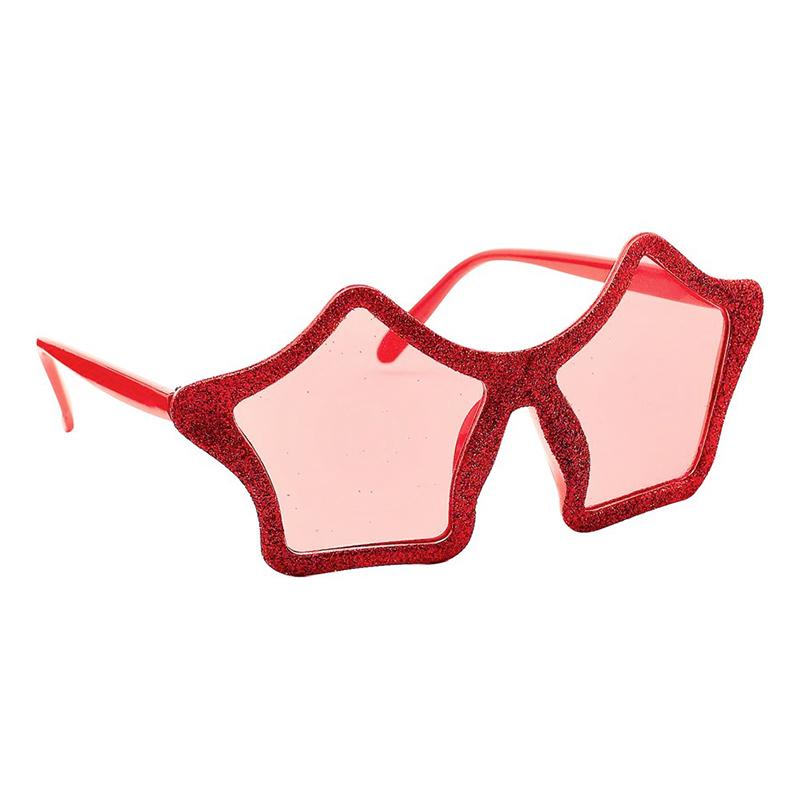 Glasögon Stjärna Röd
