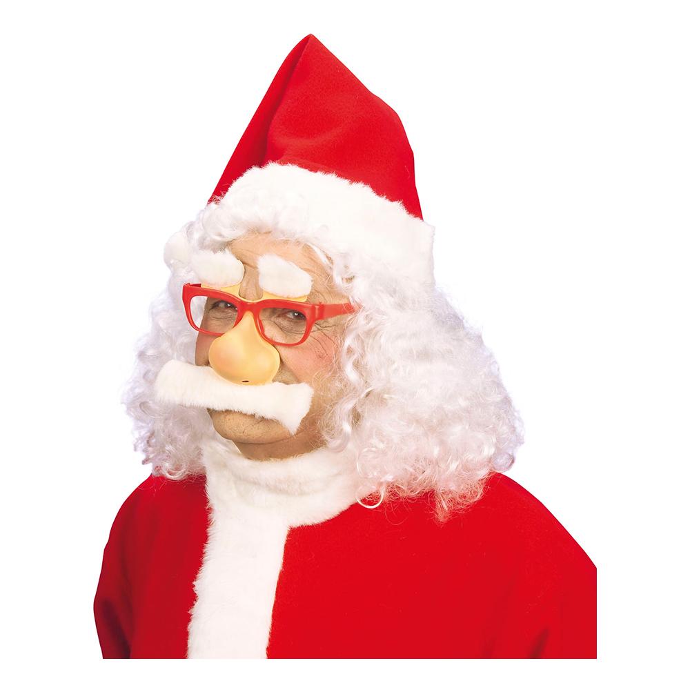 Glasögon Tomte med Lösnäsa och Mustasch