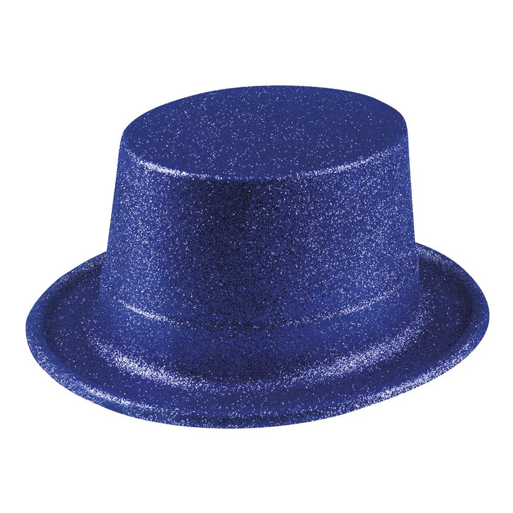 Glitterhatt Mörkblå - One size